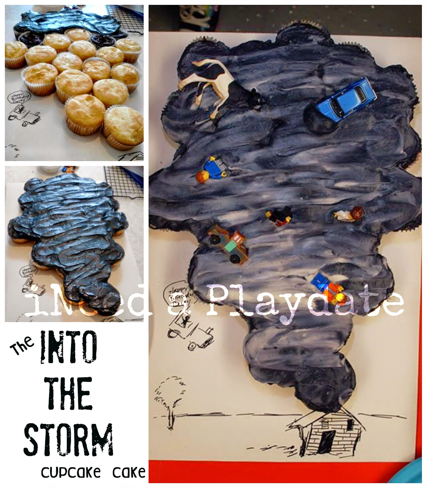 Into the Storm Cupcake Birthday Cake