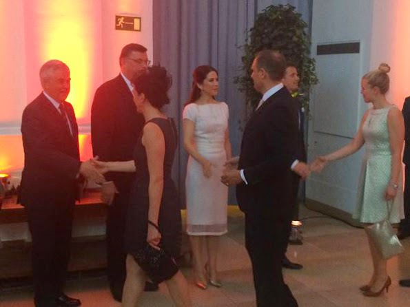 Princess Mary And Prince Frederik Attends A Dinner In The Hamburg