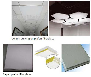 bentuk dan jenis fiber untuk plafon rumah