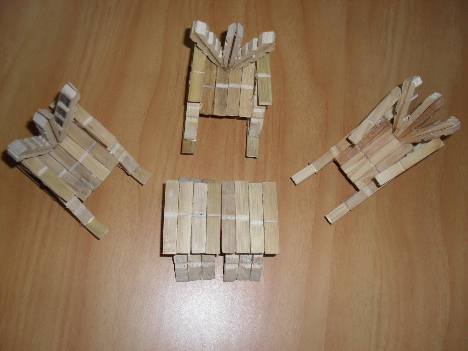 Glauci Barros: Cadeira Feita de Pregador de Roupa #392616 1600x1200