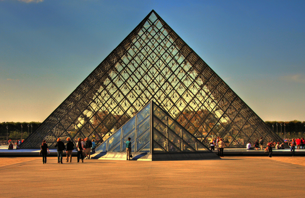 Travels and visits louvre pyramid - Pyramide du louvre 666 ...