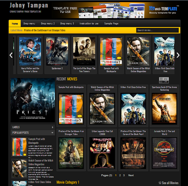 Free,SEO Friendly,Blogger,Template,Movie,Review