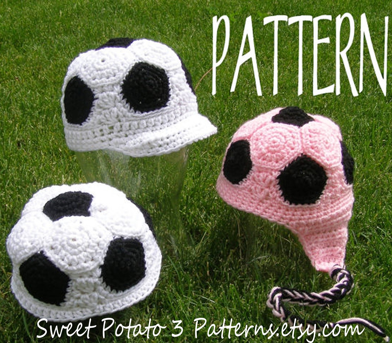 Soccer Ball Crochet Hat Pattern Sweet Potato 3
