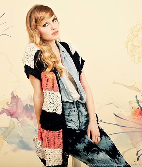 Florencia Llompart verano 2014 sacos tejidos moda 2014.