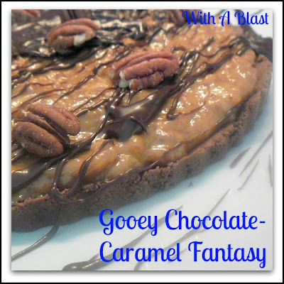 Gooey Chocolate Caramel Fantasy ~ This dessert is highly addictive ~ extra gooey delicious ! #CaramelPie #Dessert