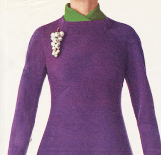 green purple 1966 dress 60s 1960