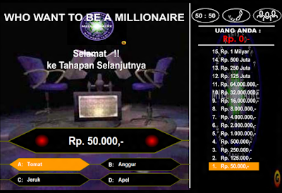 star game Who Wants to Be a Millionaire