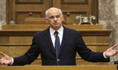 Grécia: OPOSIÇÃO DE DIREITA EXIGE DEMISSÃO DE PAPANDREOU