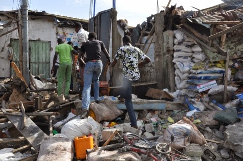 Photos: Scene of today's bomb blast in Maiduguri market9