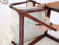 Transformation art tapizado de una vieja silla - Chinchetas para tapizar ...