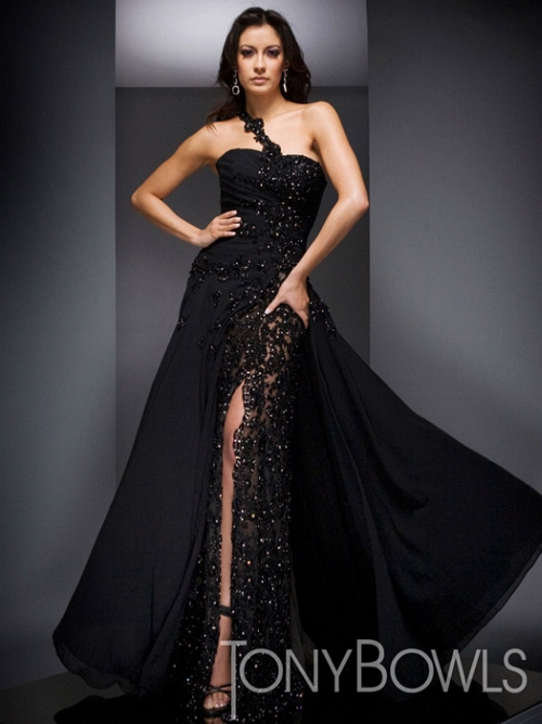 Gorgeous Black Wedding Dresses Gown