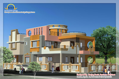 Free Home Architecture Design on Indian Style Home Plan And Elevation Design   Kerala Home Design And