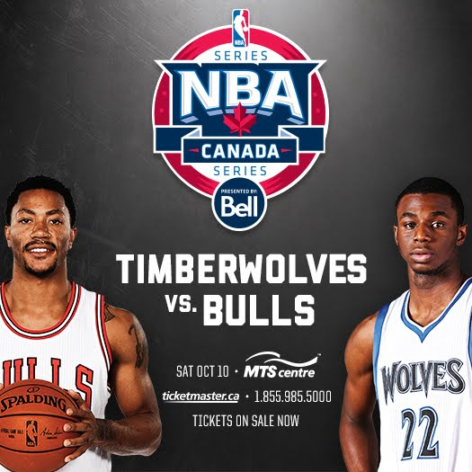 NBA Bulls vs Timberwolves in Winnipeg