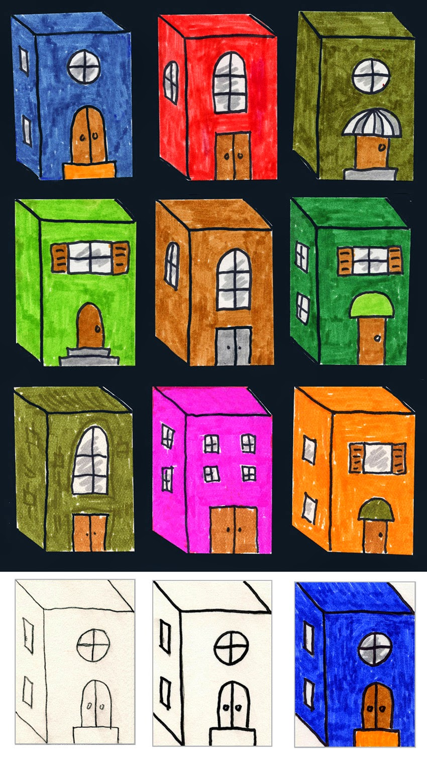 3d city buildings art projects for kids bloglovin for Projects of houses