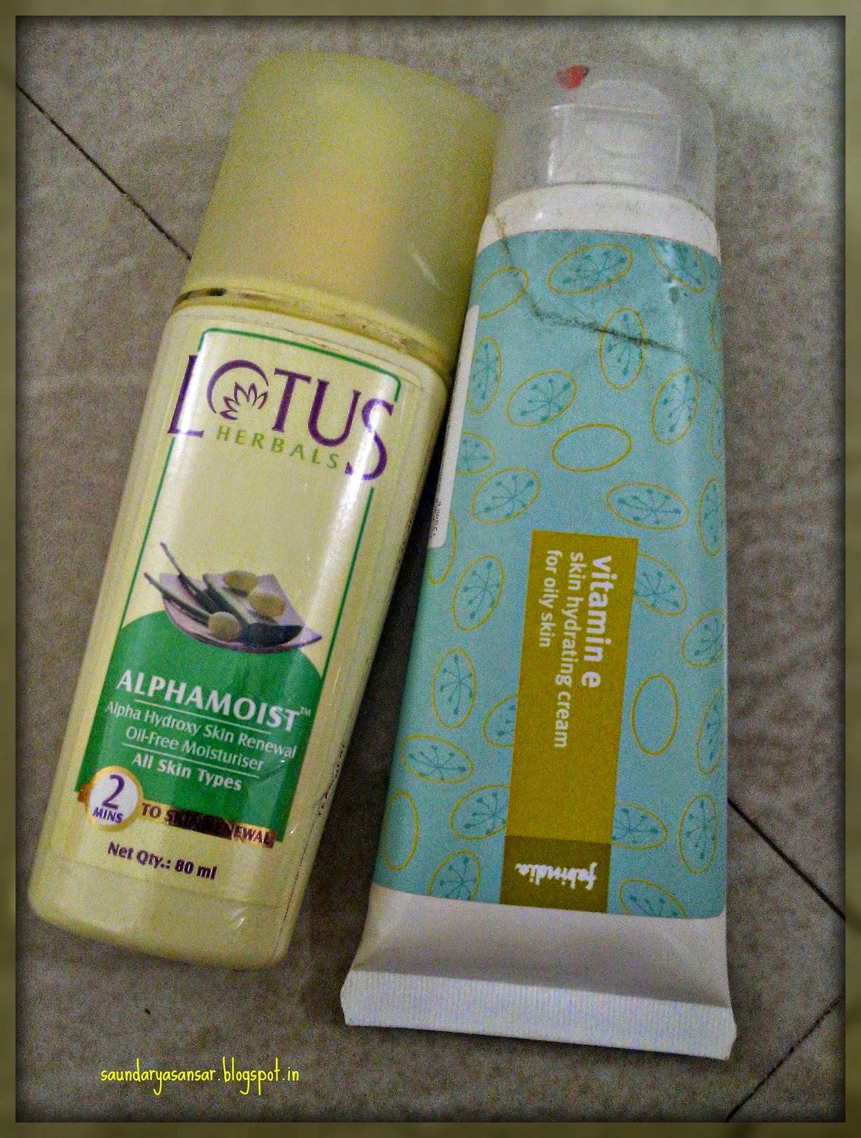 Empties-Lotus-Herbals-&-Fabindia-Moisturiser