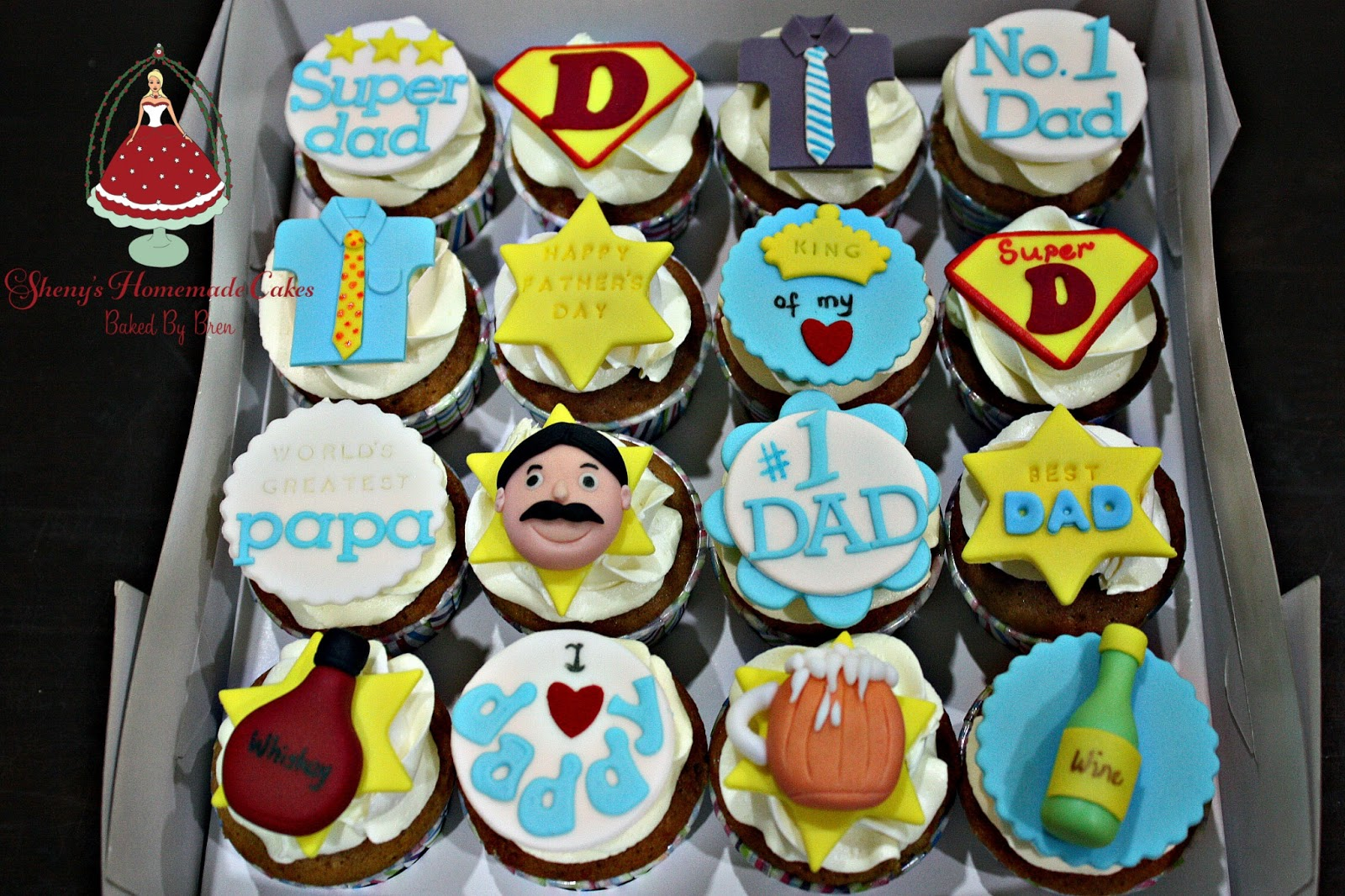 Shenys Homemade Treats Fathers Day Cupcakes
