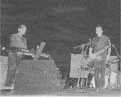 """Capi Villaravid y Miguel """"Rulos"""" Martínez (Fiestas de Monforte de Lemos, 17 08 96)"""