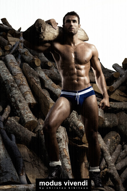 modus vivendi underwear campaign retro greece woodcutter style