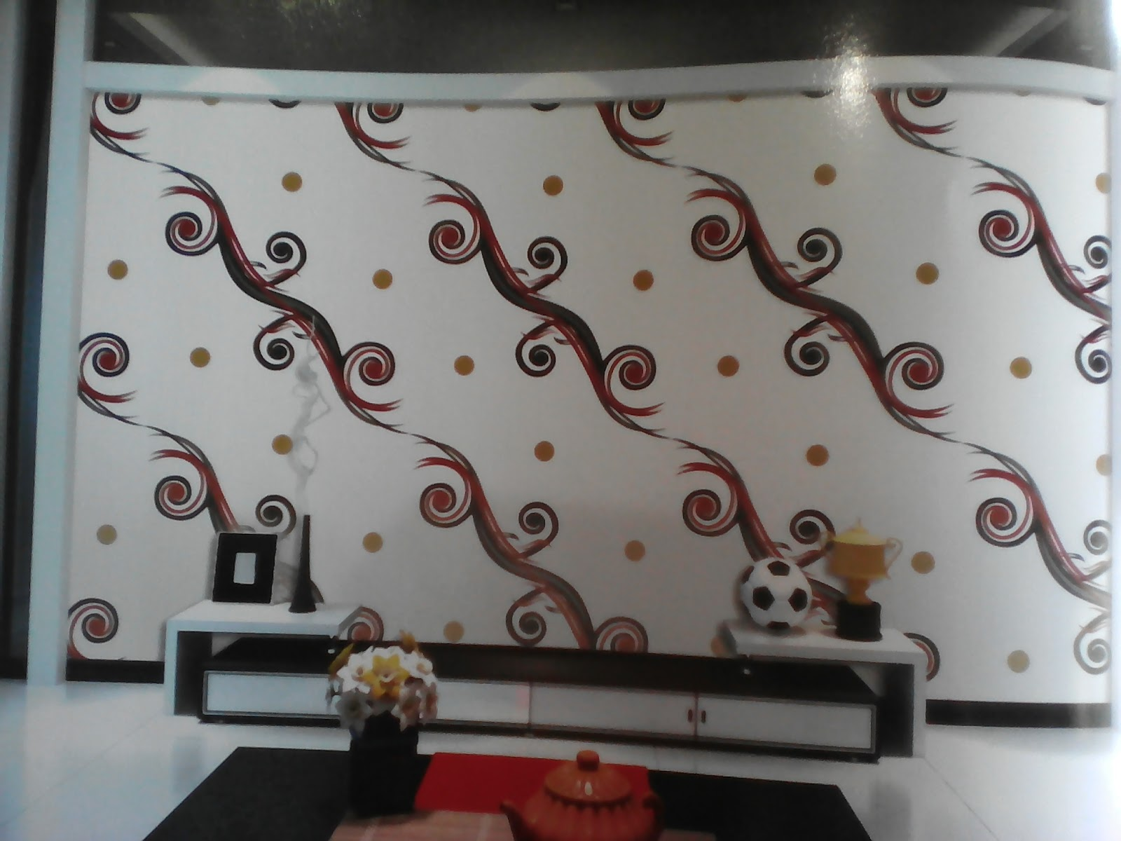 ETHNIC INTERIOR GROSIR WALLPAPER DINDING