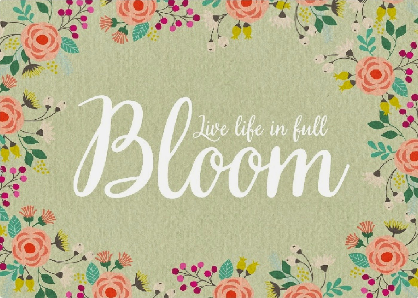 Bloom Quotes Delectable Digital Designs Scrapbooking Live Life In Full Bloom