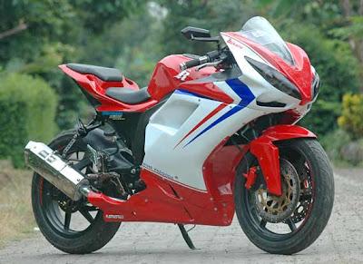 modifikasi megapro konsep motor sport