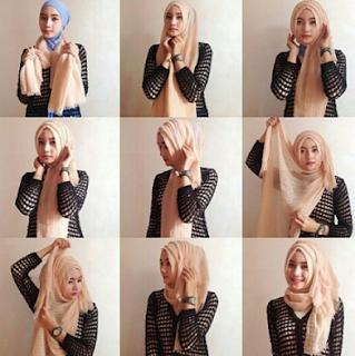 Tutorial Cara Memakai Jilbab Dengan Pakaian Motif Garis