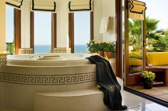 Baños Hermosos Con Tina:Diseños de baños lujosos con hermosas tinas