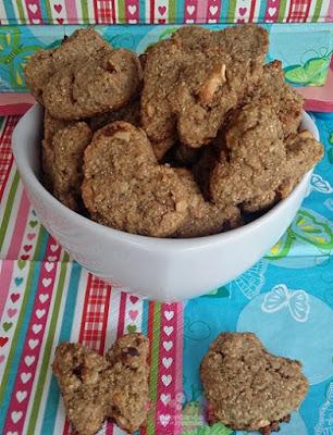 Biscoito integral de aveia e farinha de castanhas