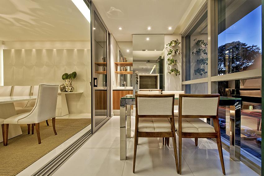 Construindo minha casa clean varandas sacadas integradas for Sala de estar gourmet
