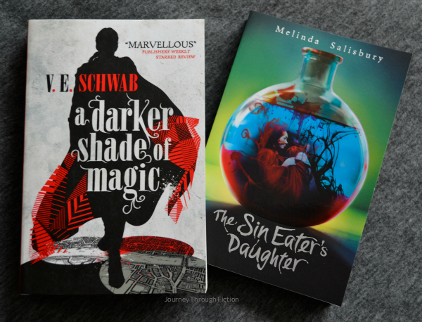 A Darker Shade of Magic by V.E. Schwab and The Sin Eater's Daughter by Melinda Salisbury