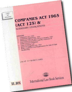 section 176 of companies act 1965 Currently the companies act only allows an insolvent malaysian company to wind itself up, undertake a scheme of arrangement under section 176 of the companies act, or appoint a receiver the bill introduces the concepts of judicial management and corporate voluntary arrangement.