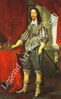 Charles I by Daniel Mytens, 1631. The old regalia were used for the last time at his coronation in 1626