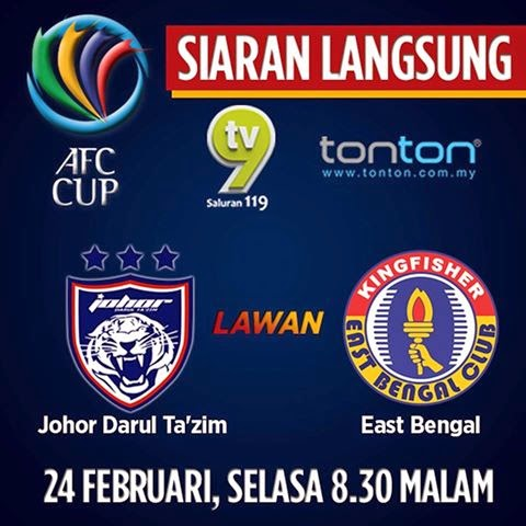 Video Gol Perlawanan JDT Vs East Bengal 24 2 2015