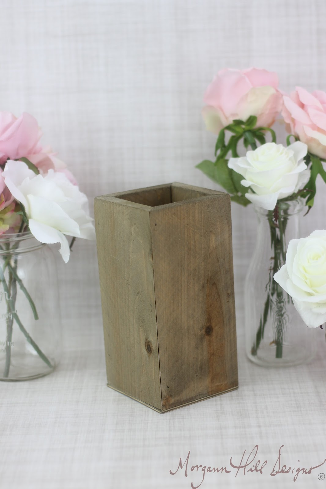 Morgann hill designs tall rustic planter box wedding centerpiece tall rustic planter box wedding centerpiece vase shabby chic barn decor country item number 130085 reviewsmspy