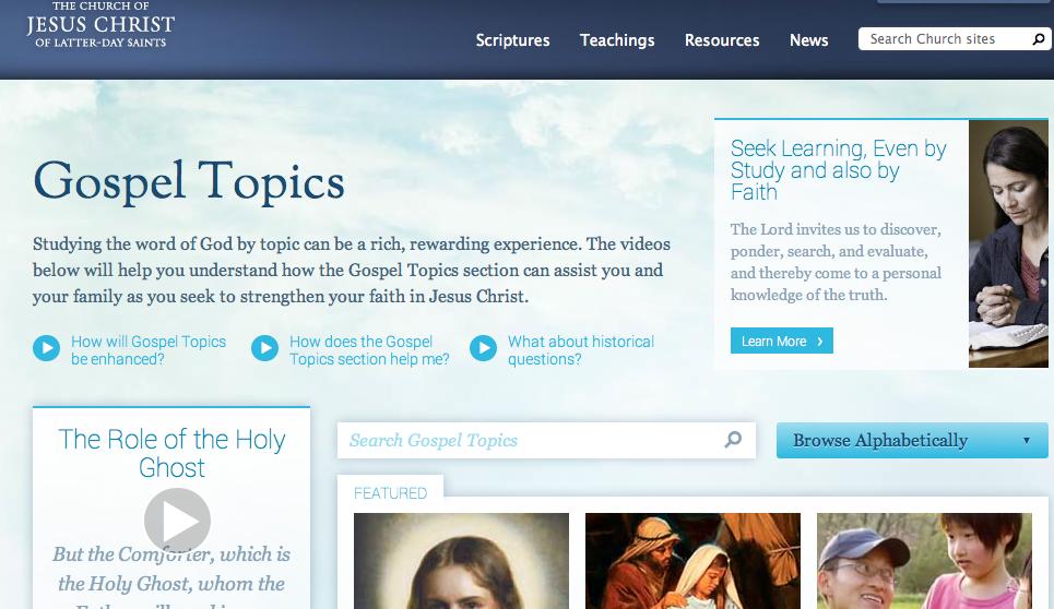 el cambio de temas del evangelio en lds.org. - .::Cumorah.org ...