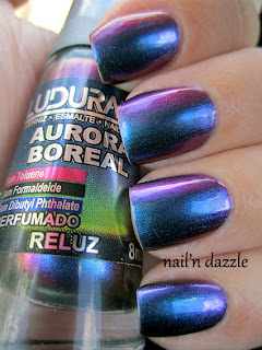 ludurana, reluz, nail, polish, multi, chrome, shift, blue, green, pink, purple, bronze