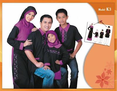 KIRGYZ SARIMBIT Koleksi Busana Muslim Keluarga Hitam Ungu