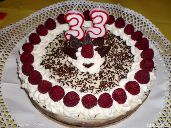 tarta con velas