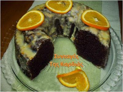 Σοκολατένιο κέικ με γλάσο πορτοκαλιού
