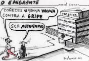 mis viñetas - humor grafico (o emigrante)
