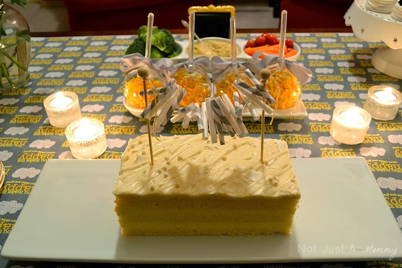 Sunshine and Grey Girl's Night Out table paper straw cake topper