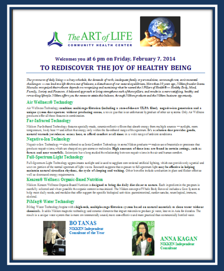 Invitation: To Rediscover the Joy of Healthy Being
