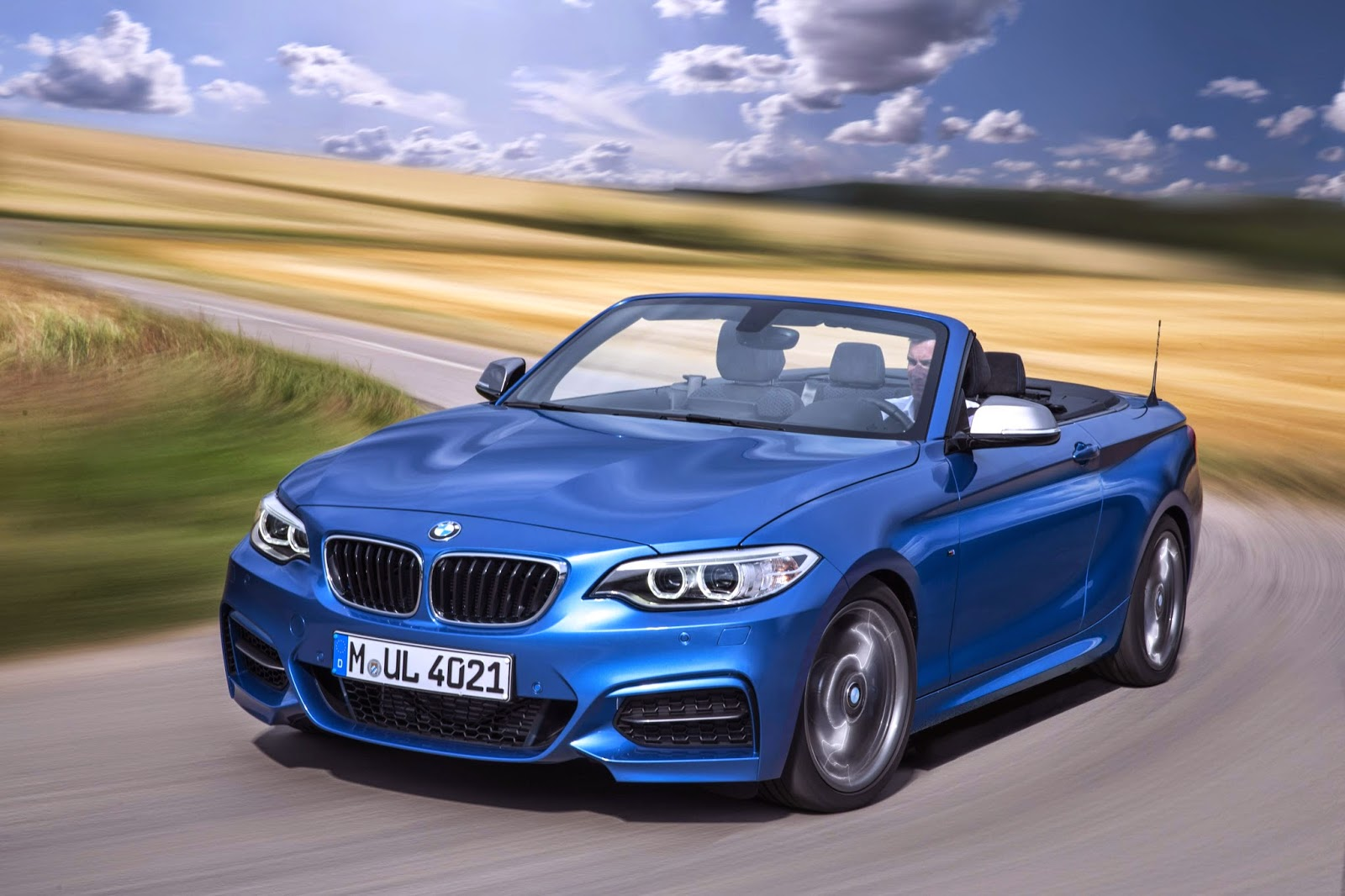 BMW M235i Convertible roof down