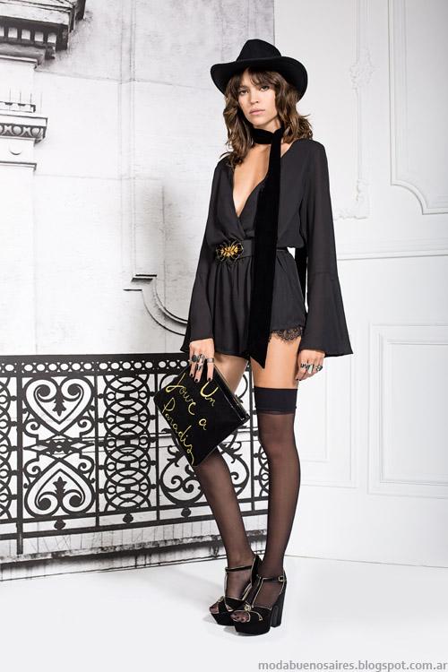 Vestidos Paris by Flor Monis otoño invierno 2015. Moda otoño invierno 2015.