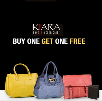 Kiara Bags Buy 1 Get 1 Free + 35% off from Rs.474 || Jabong
