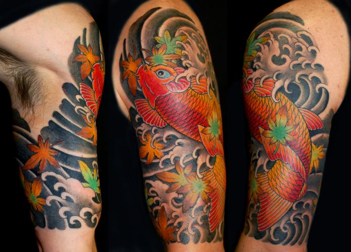 Dise os japoneses dragones geishas carpas y mas - Tattoo disenos a color ...