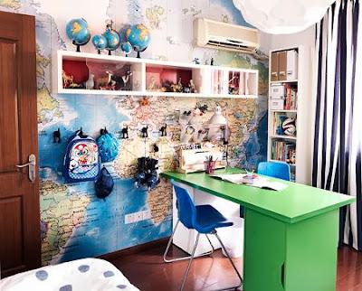 Decora tu vida diy un escritorio zona de ordenadores - Mapamundi pared ikea ...
