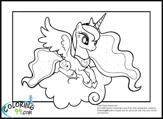 baby princess luna coloring pages