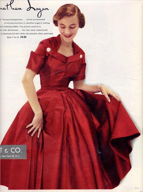 Vintage Red Dress #vintage #red #dress #1940s #1950s