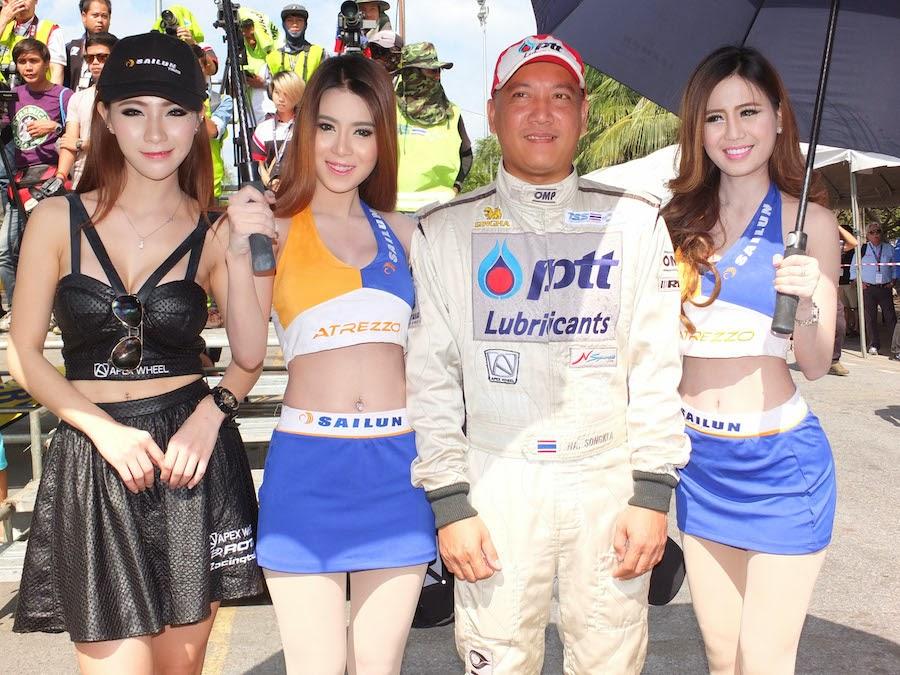 พริตตี้ ยางรถไซหลุน Bangsaen speed Fest